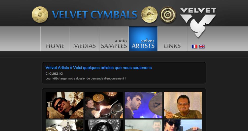 Velvet cymbales Artistes