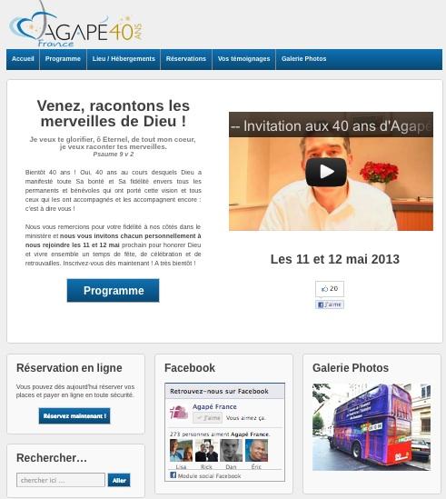 Accueil site 40ans