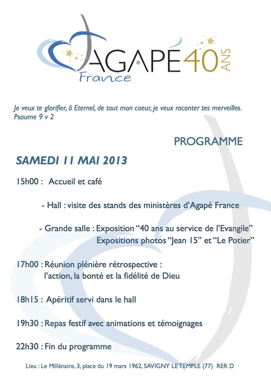 Programme du 11 mai