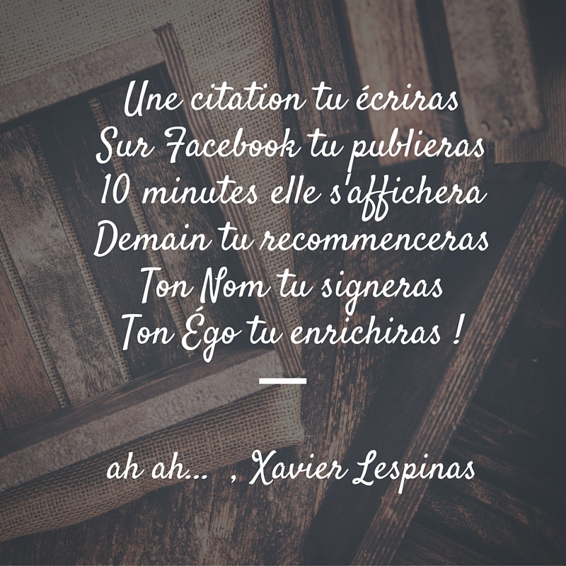 Citation Xavier lespinas